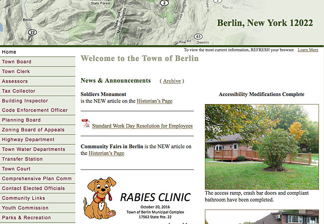 Berlin, NY OFFICIAL Town Site
