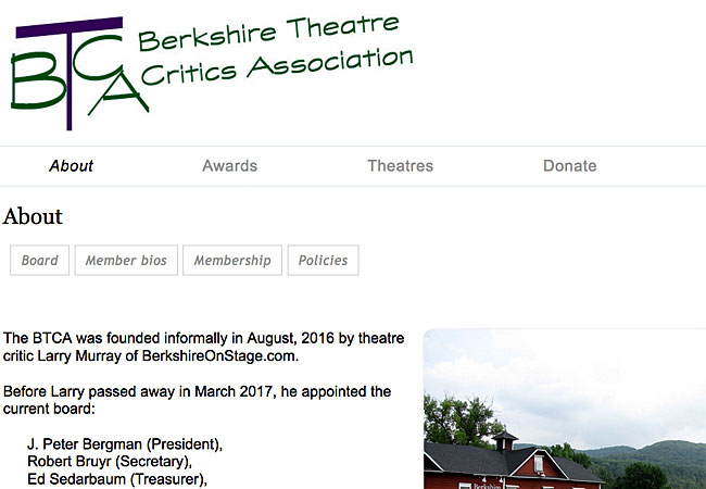 Berkshire Theatre Critics Association