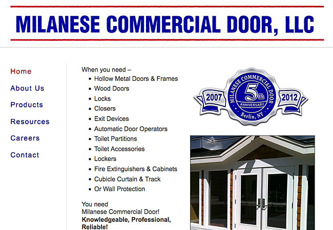 Milanese Commercial Door