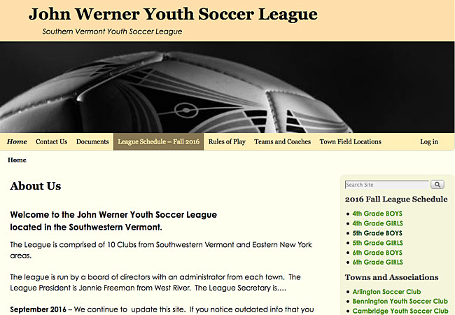 John Werner Youth Soccer League
